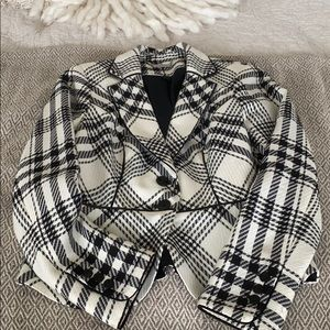 WHBM PLAID BLAZER
